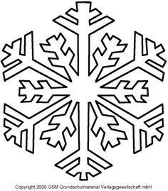 schneeflocke vorlage