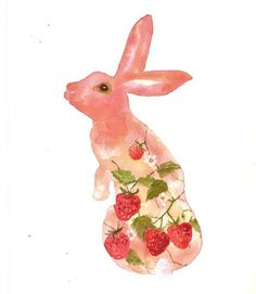 Strawberry fields bunny--Alison Fennell