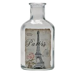 Chateau Glass Bottle Small 6cm x 12.5cm - Giftware - Home Decor - Homewares - The Warehouse