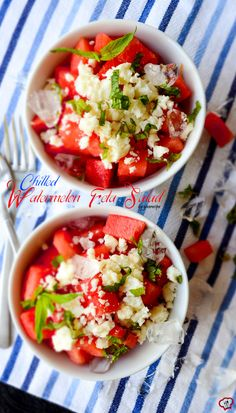 Chilled Watermelon Feta Salad 1