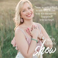 Leticia Ringe on Finding your Soul's Purpose, Feminine Energy & Releasing the Grip - The Kelly Trach Show Podcast Feminine Energy, Purpose, Finding Yourself, Author, Shit Happens, Business, Writers, Store, Business Illustration