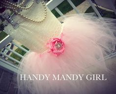 Powder pink baby pink ballerina pink ivory Lace brooch flower girl tutu dress on Etsy, $80.00