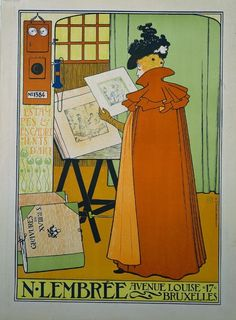 Theo van Rysselberghe, Poster for the Lembree Gallery, 1897 (via).