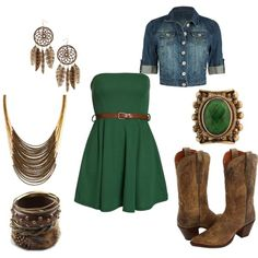 Country outfit outfits-with-green (I can't even begin to say how much I L O V E this!!)
