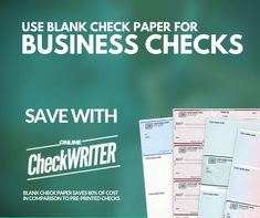 You own a business. It is very crucial to have a professionally enhanced business check with logo which will act a face of your business. Print business checks online on demand on blank check paper. You are welcome to use any printer after the Act. Business Checks, Business Names, Check Printing, Online Printing, Order Checks Online, Payroll Checks, Check Mail, Blank Check, A State Of Trance