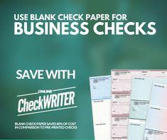 Business checks - Make professional checks instantly and print on demand