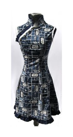Custom Star Wars Dress in Blue and White by teatimeinc on Etsy, $130.00