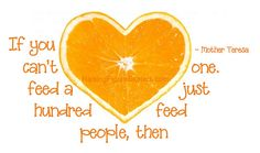 FeedJustOne Word Art Freebie for #nokidhungry #momsfighthunger #goorange