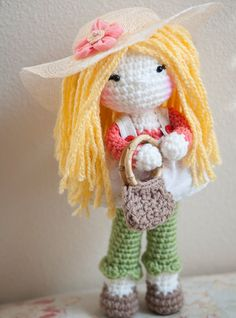 Handmade Crochet Dolls by LinaMarieDolls on Etsy