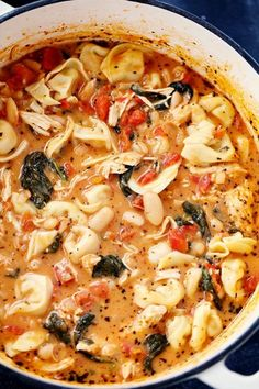 Withthe gf pasta? Creamy Tuscan Garlic Tortellini Soup   The Recipe Critic