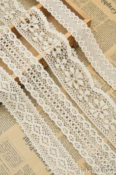 1 M Vintage Cotton Cream Crochet Scalloped Pretty Floral Lace Trim