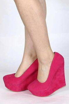 8e7267ce423 Fuchsia Wedges I Love Fashion