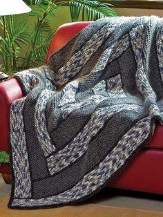 Knitting - Afghan & Throw Patterns - Spiral Walkway