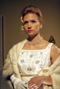 Betty's stunning white dress