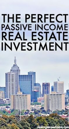 The Perfect Passive Income Real Estate Investment - REITs