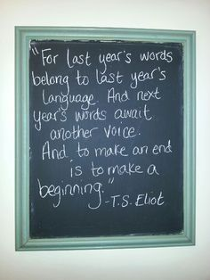 T.S. Eliot... LOVE THIS.