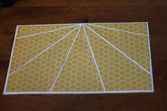 Sunburst technique for cards or scrapbook pages