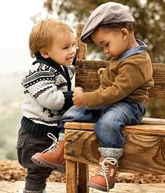These besties can't count yet but they can be counted on… to look awesome.   25 Kids Too Trendy For Their Own Good