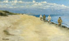 Beach cyclists, 1894, Einar Hein