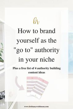 How To Brand Yourself as A Go-To Expert In Your Niche – HoneyBook – Finance tips for small business Social Media Branding, Personal Branding, Marca Personal, Branding Your Business, Business Marketing, Creative Business, Business Tips, Online Marketing, Online Business