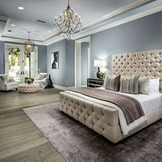 36 cozy blue master bedroom design ideas 19 – - All About Decoration Master Bedroom Ideas On A Budget, Rustic Master Bedroom, Gray Bedroom, Master Bedroom Design, Bedroom Decor, Master Bedrooms, Patio Interior, Interior Exterior, Stylish Bedroom