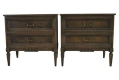 Italian Side Tables, Pair