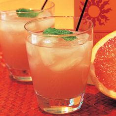 Vodka Floridita:  2 oz. Charbay ruby red grapefruit vodka 1 1/2 oz. fresh grapefruit juice 1 oz. fresh lime juice 1 oz. triple sec Mint leaves for garnish
