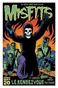 Misfits - Le Rendez-Vous, Canada 1998 - Mini Print