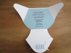 Handmade Baby Shower Invitation  Diaper Shape by YesYouAreInvited, $2.75