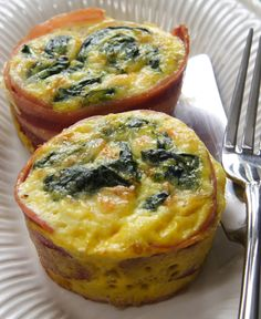 Simple Breakfast in Bed from Katie Brown Blog - I like muffin shaped eggs and bacon.