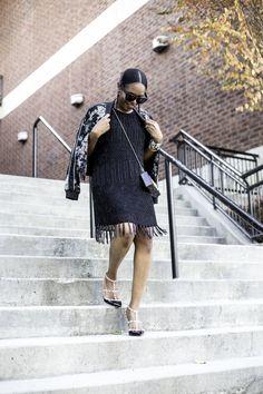 Atlanta Fashion Blogger #beaded dress #holiday #holidayparty  #holidaydress