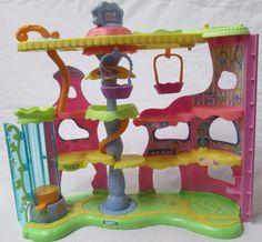 LPS Littlest Pet Shop Round N Round Pet Town House Playset Center For Nooks EUC #Hasbro #LittlestPetShop #LPS