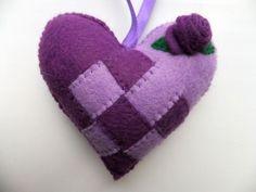 Felt Valentines Scandinavian Love Heart Swedish by AppledoorStudio, £7.99