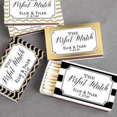 SET of 50 Personalized Matchboxes, Chalkboard Wedding Matchbox Favor, A Perfect Match Wedding Match Box, Matchbox Wedding Favor by EventDazzle on Etsy https://www.etsy.com/listing/256954451/set-of-50-personalized-matchboxes