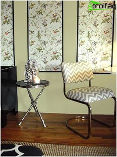 A kombináció a tapéta a nappaliban: fotó ötletek, módszerek, optikai átalakítás tér