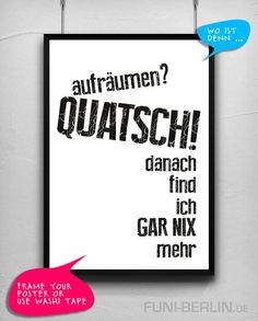 """CHAOS."" | typo poster | size L von FUNI BERLIN auf DaWanda.com"