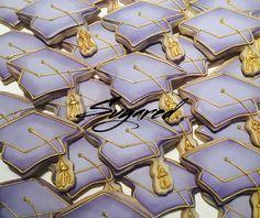 Purple & Gold Graduation Cookies