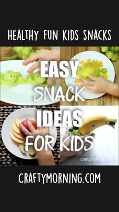 Easy Snacks For Kids, Cute Snacks, Kid Snacks, School Snacks, Cute Food, Yummy Food, Toddler Meals, Kids Meals, Food Crafts