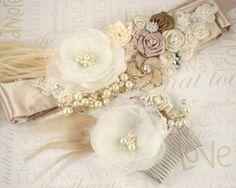 Some hand made romantic wedding adornments...