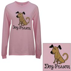 Dog Person Pink Long Sleeve T-Shirt at The Animal Rescue Site