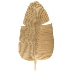 Gold Banana Leaf Cut-Outs. Wall Art - Home Decor (€82) ❤ liked on Polyvore featuring home, home decor, wall art, decor, backgrounds, filler, gold wall art, banana leaf wall art, tropical home decor and gold home accessories