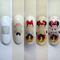 Pop Art Nails, Neon Nails, Toe Nail Art, Nail Art Diy, Disney Acrylic Nails, Disney Nails, Nail Art Designs, Acrylic Nail Designs, Nail Art Techniques