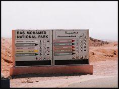 Minhas fotos do Mar Vermelho-Egito... Aguas azuis, golfinhos, corais e... camelos! - Entrada do Parque Nacional