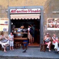 antvin  I Due frattelini, Via dei Cimatori 38R, 50122 Firenze, 055 2396096.     This is a famous sandwich shop run by two brothers near Piazza della Signoria, you will know you're in the right place by the long line of people waiting for their 2.50 Euro paninos and cheap glasses of wine. Try goat cheese and spicy salami, that's my favourite!
