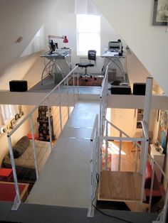small home with lofted workspace - Who Lives Here: Roger Schroeder + 1 Location: Buffalo, New York Size: 630 square feet