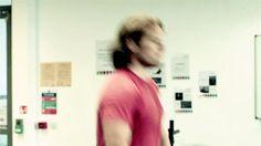 Sam Heughan lifting weights GIF - My Peak Challenge Dec 2014