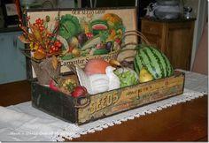 beautiful antique seed box