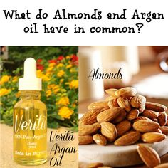 Both are a great source of vitamin E that acts as an antioxidant to protect skin cells from UV light that generate cell-damaging free radicals, according to Women's Health Magazine.  Grab a bag of almonds and a bottle of Verità Classic 100% Pure Argan Oil  #healthy #arganoil #skincare #organicbeauty #veritabyamanda #handmade #fitspo  www.veritabyamandaskincare.com/#!organic-argan-oil/c1yl4