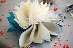 Fabric Flowers : Tissue Paper and Tulle Flower Tutorial.
