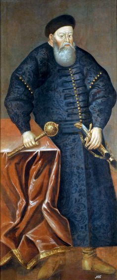 Konstanty Iwanowicz Ostrogski.  (c. 1460– August 10, 1530) (Lithuanian: Konstantinas Ostrogiškis, also known under his Ruthenian  (Ruthenian) name Vasyl-Kostjantyn Ostroz'kyj and modern Belarusian transliteration Kanstancin Astrožski) was a magnate of the Grand Duchy of Lithuania and later a Grand Hetman of Lithuania. He took part in successful campaigns against the Tatars and Muscovy (Russia).